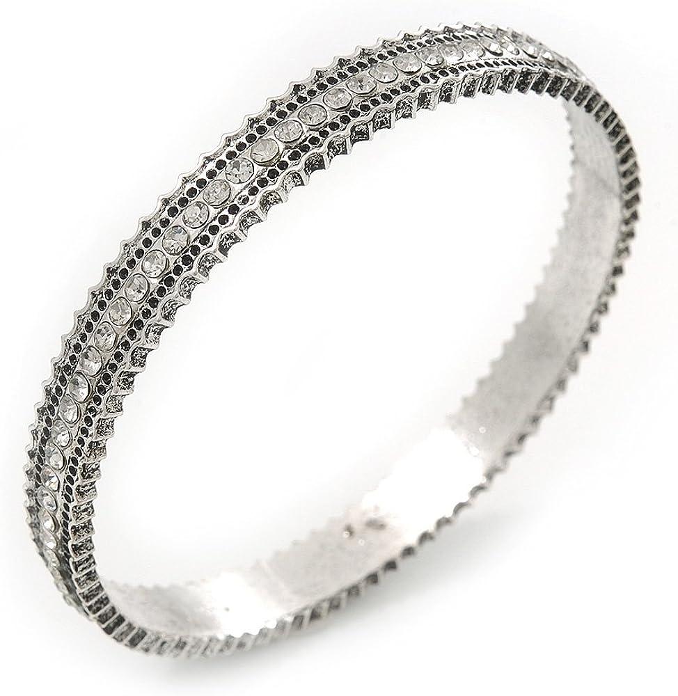 Combustión de Diamante pulsera brazalete - hasta 18 cm, longitud de la