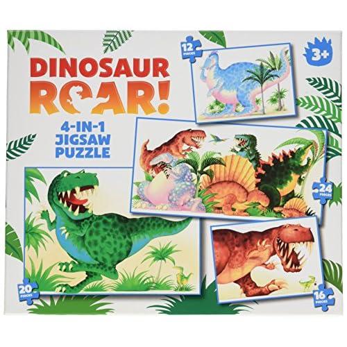61QnfJ2B%2BZL. SS500 Cuatro rompecabezas en una caja, que ofrece horas de diversión y excelente valor para dinero. Los cuatro rompecabezas con personajes de la serie ruggito dinosaurio Las diferentes pieza cuenta significa que también el más pequeño ruggito dinosaurio ventilador experiencia puede completar un puzle.