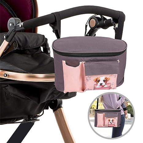 Bolsa organizadora multifuncional para cochecito de bebé Kidsidol, bolsa de viaje, bolsa de pañales pequeña, gran capacidad, durable, ajustable para ...