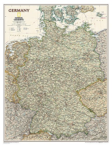 National Geographic: Germany Executive Wall Map (23 x 30 inches) (National Geographic Reference Map)