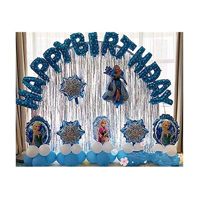 Frozen cumpleaños fiesta decoración, globo de cumpleaños ...