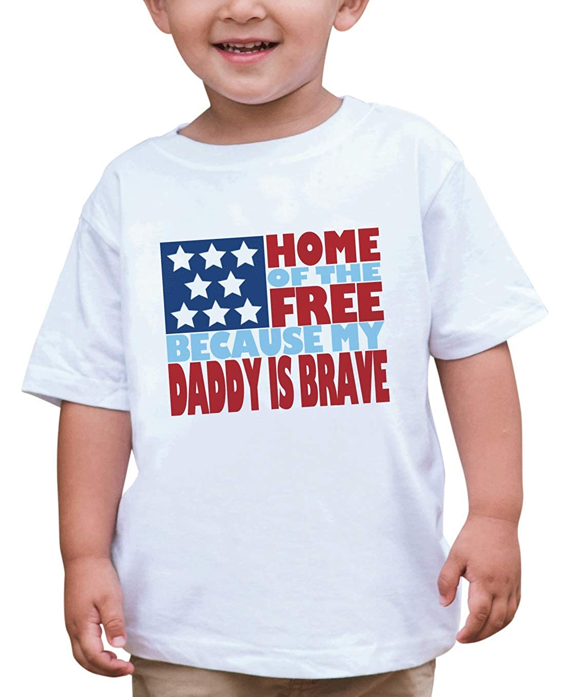 7 ate 9 Apparel Kids Daddy is Brave 4th of July T-Shirt