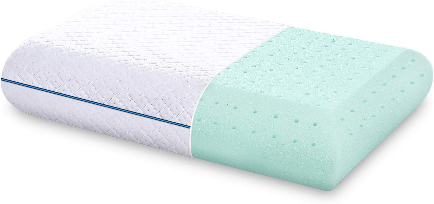 DOYEE Gel Memory Foam Pillow for Sleeping with Washable Removable Cooling Cover, Queen Size