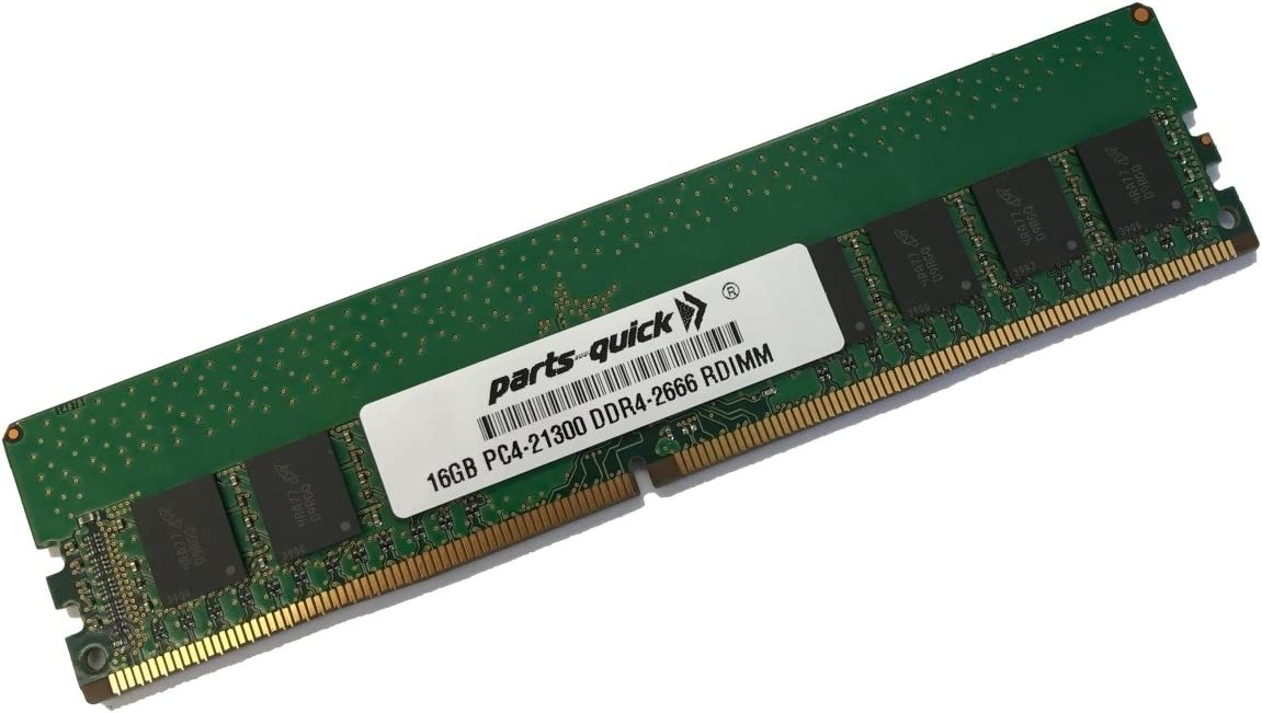 1x16GB 16GB Memory for HPE SimpliVity 380 Gen10 DDR4-2666 CAS-19-19-19 Registered DIMM RAM PARTS-QUICK Brand