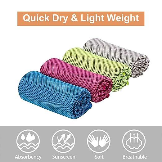 AYHa 4 Unids Toalla de Enfriamiento Fitness Toallas de Yoga ...