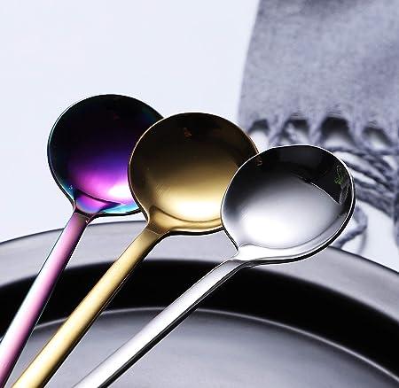 6 Demitasse scrolls Eickhorn Roneusil Stainless Flatware Demi Spoons