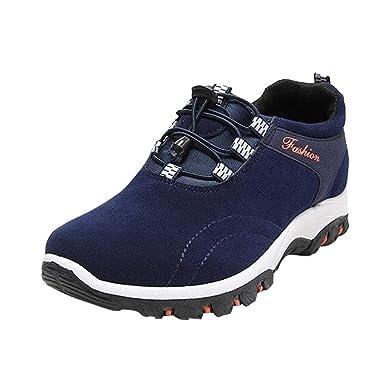 newest f2a71 92b0b VECDY Herren Schuhe,Weihnachten Geschenke- Herbst Männer Beiläufige  laufende Schuhe der zufälligen im Freien wandernden Schuhe Stretch Stiefel  schwarz ...
