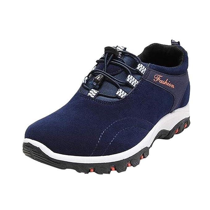 ZODOF Hombres Botas de Senderismo Zapatos de Trekking resbaladizo Caminar Transpirable Zapatilla de Escalada