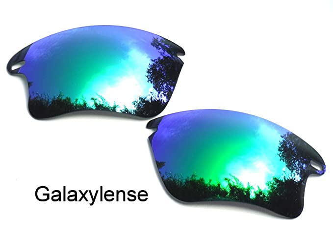 6ec92e0e5cc Galaxy Replacement Lenses for Oakley Fast Jacket XL Green Color Polarized