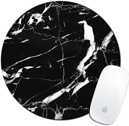 Computer Round Personalized Custom Mousepad for Desktop SHrui Gaming Office Mouse Pad,Anti-Slip Natural Rubber Mouse Pads Laptop -Gilding Marble