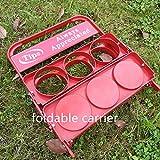Foldable Plastic Beverage Carrier for Grubhub