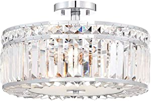 Home Decorators 27243 3-Light Chrome Semi Flush Mount