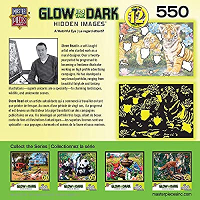 MasterPieces Hidden Images Glow in The Dark - A Watchful Eye 550pc Puzzle: Toys & Games