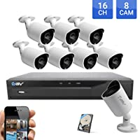 Best Vision 16-Channel HD DVR Security System with 8 Cameras, 1TB Hard Drive