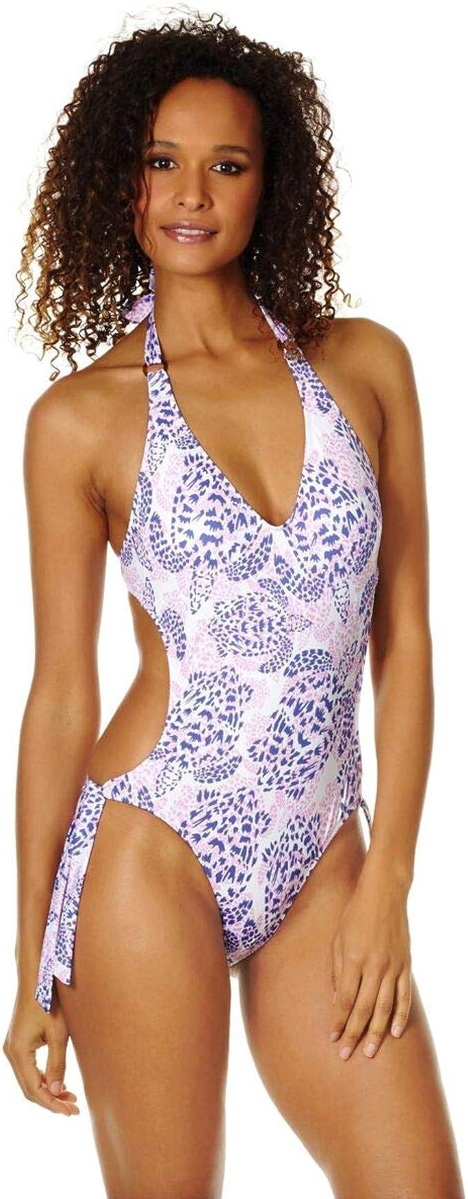 Vilebrequin - Costume Intero Trikini Donna Jungle Turtles