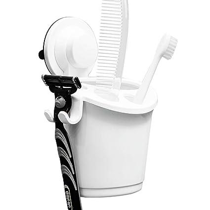 El soporte del cepillo Turbo pasta de montaje en pared de aspiración de tocador en el