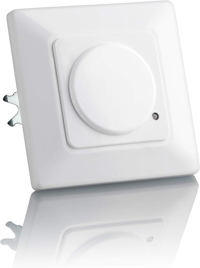 SEBSON® Detector de Movimiento empotrable, Interior, HF Sensor, LED Adecuado, Montaje en Pared, programable, Alcance 15m / 180°: Amazon.es: Bricolaje y herramientas