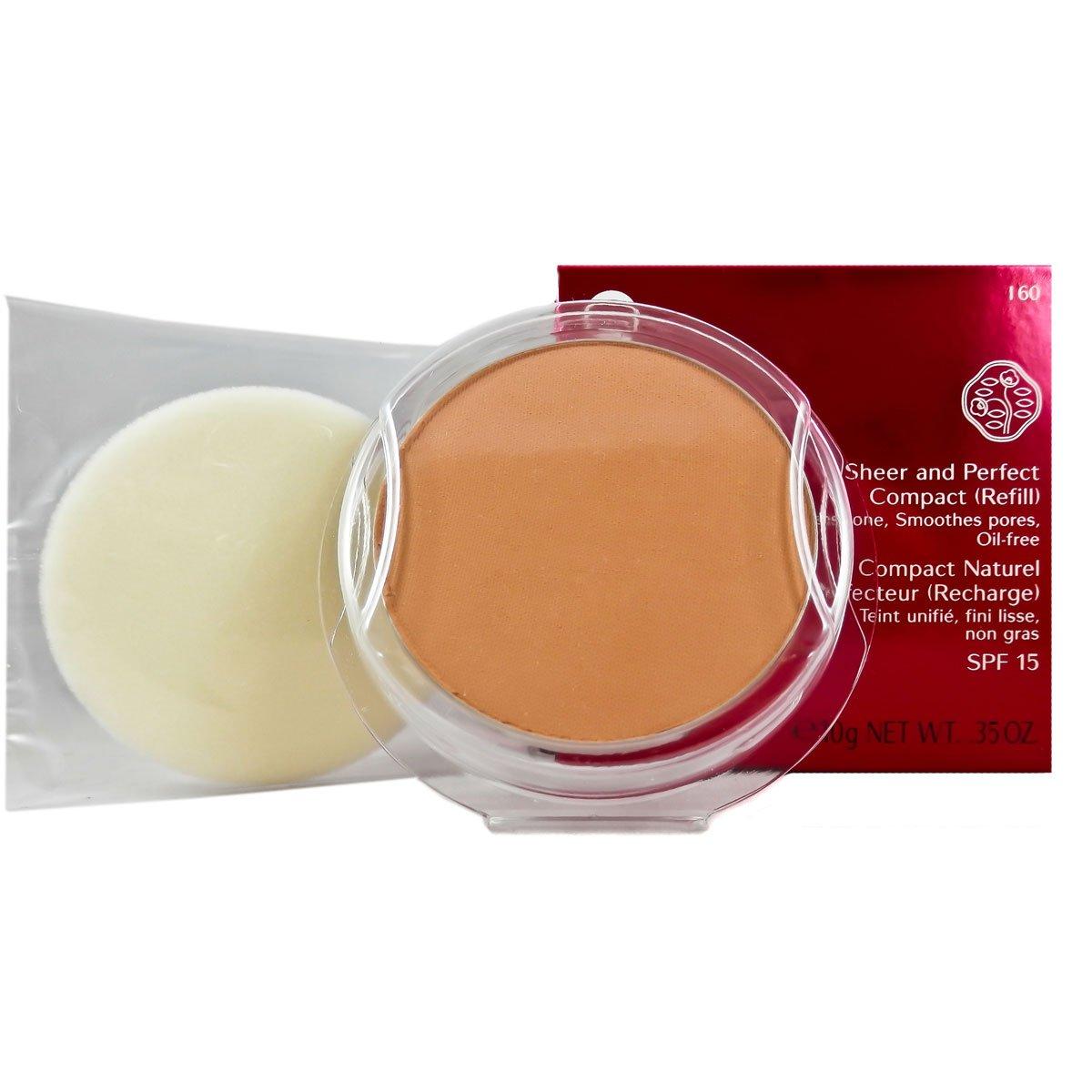 Shiseido Sheer and Perfect Refill Compact SPF 21 for Women, No. I60 Natural Deep Ivory, 0.35 oz (Refill) PerfumeWorldWide Inc. Drop Ship KS556I6