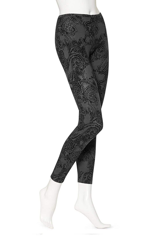ac536ed01fd062 HUE Women's Glen Plaid Leggings, Black, Small at Amazon Women's Clothing  store: