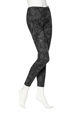 8077e211d4e18 HUE Women's Glen Plaid Leggings, Black, Small at Amazon Women's ...