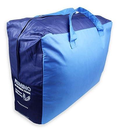 new concept 63028 09089 Tata Home Piumino Double Face da 350 gr/mq Invernale in 90% Piuma d' Oca e  10% Piumino Misura Letto Singolo Una Piazza cm 155x200 Colore Blu Azzurro