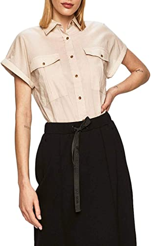 Pepe Jeans Camisa Ashley Beige para Mujer: Amazon.es: Ropa y accesorios