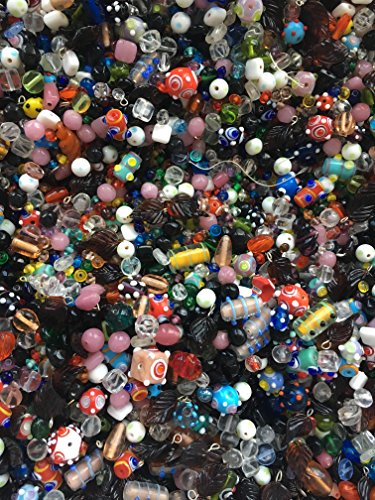 5 Pounds of Mix Preciosa, Druk, Glass, Leaves Crystal, Aluminum, Mix Beads, Czech Pressed,, Crystal, Assorted, Variety Mix Size 6mm-24MM, Variety of Colors (Beads Pressed Leaf)