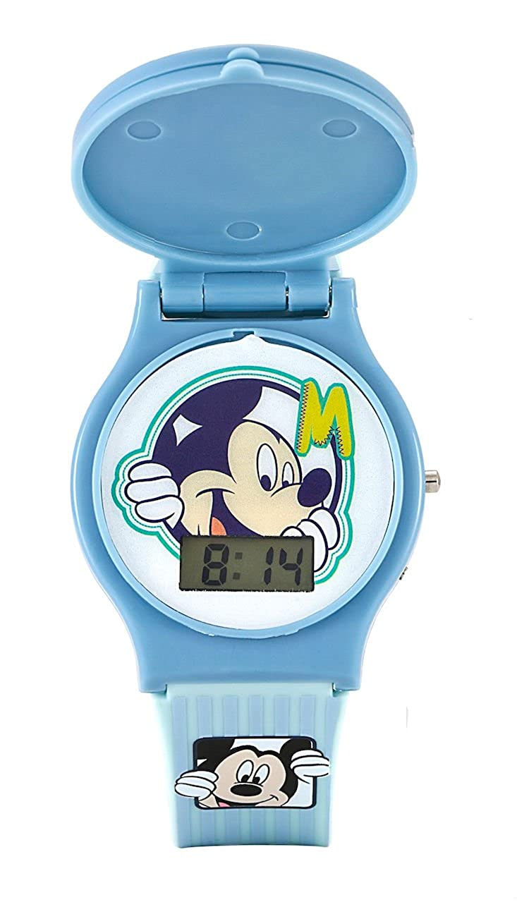 Disney Mickey Mouse niños intercambiable cabeza azul reloj Digital: Amazon.es: Relojes