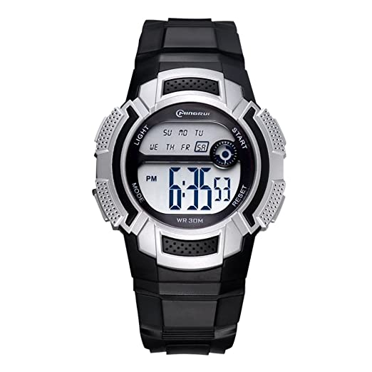 5448f4f97 Niño Relojes electrónicos,30m impermeable Luminoso Calendario Mes de la  semana Corriendo Reloj deportivo Junior Multifunción Jalea-I: Amazon.es:  Relojes