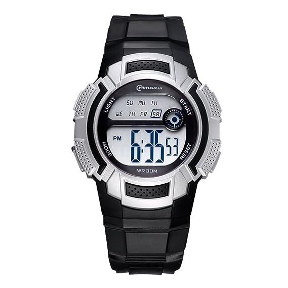 Relojes electrónicos para Estudiantes, Resistentes al Agua [Movimiento] multifunción, Luminoso, para Correr, Reloj con Hebilla: Amazon.es: Relojes