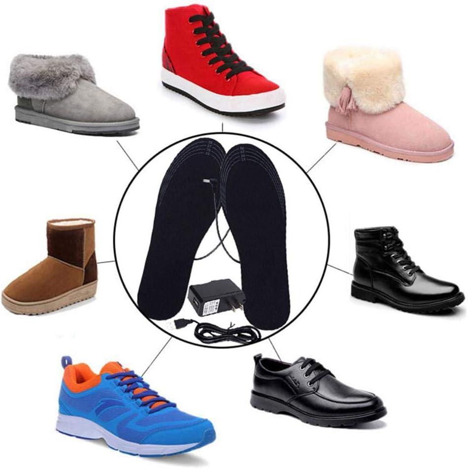 2019 Nouveau Semelles chauffantes /électriques USB Chaussures chauffantes coupantes lavables Semelles Pieds Warmers Mat/ériaux de Haute qualit/é en Fibre /élastique EVA Womdee Semelle chauffante USB