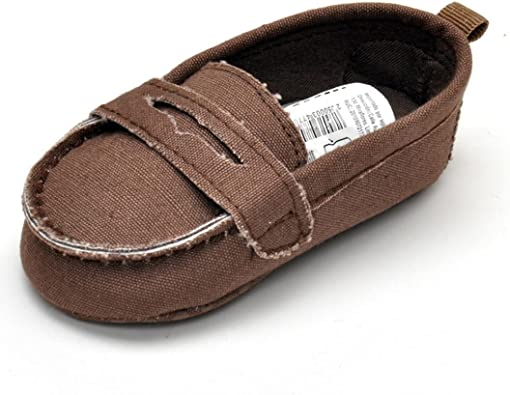 Voberry/® Toddler Girls Slip On Brown Cute Loafer Baby Flats Shoe