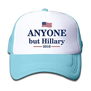 Kids Mesh Adjustable Anyone But Hillary 2016 Anti-Hillary Cap Winter Hats