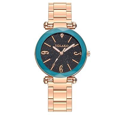 Mymyguoe Reloj de Oro Rosa Reloj Mujer Relojes Hombre Unisex Reloj de Pulsera Relojes de Pulsera para Hombres Reloj Mujer Moda Reloj analogico Reloj de ...