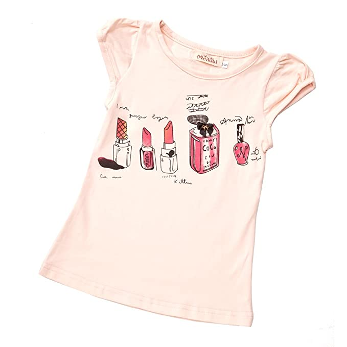 4450450a09566 Amazon.com: Toddler Little Girls Coco Chanel Short Sleeve T-Shirt ...