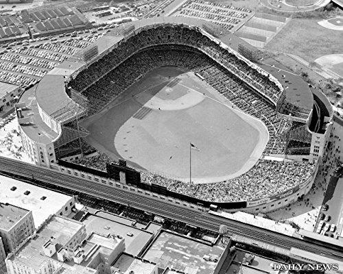 11 x 14 Inch Puzzle 252 Pcs Baseball Yankee Stadium Aerial Full House 1950s