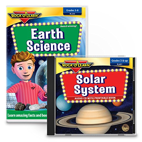 Earth Science & Solar System Set - Earth Science DVD & Solar System Audio CD with Printable Book