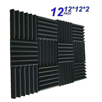"12 Pack - gris paneles acústica Studio espuma cuñas 2 ""x 12"" ..."