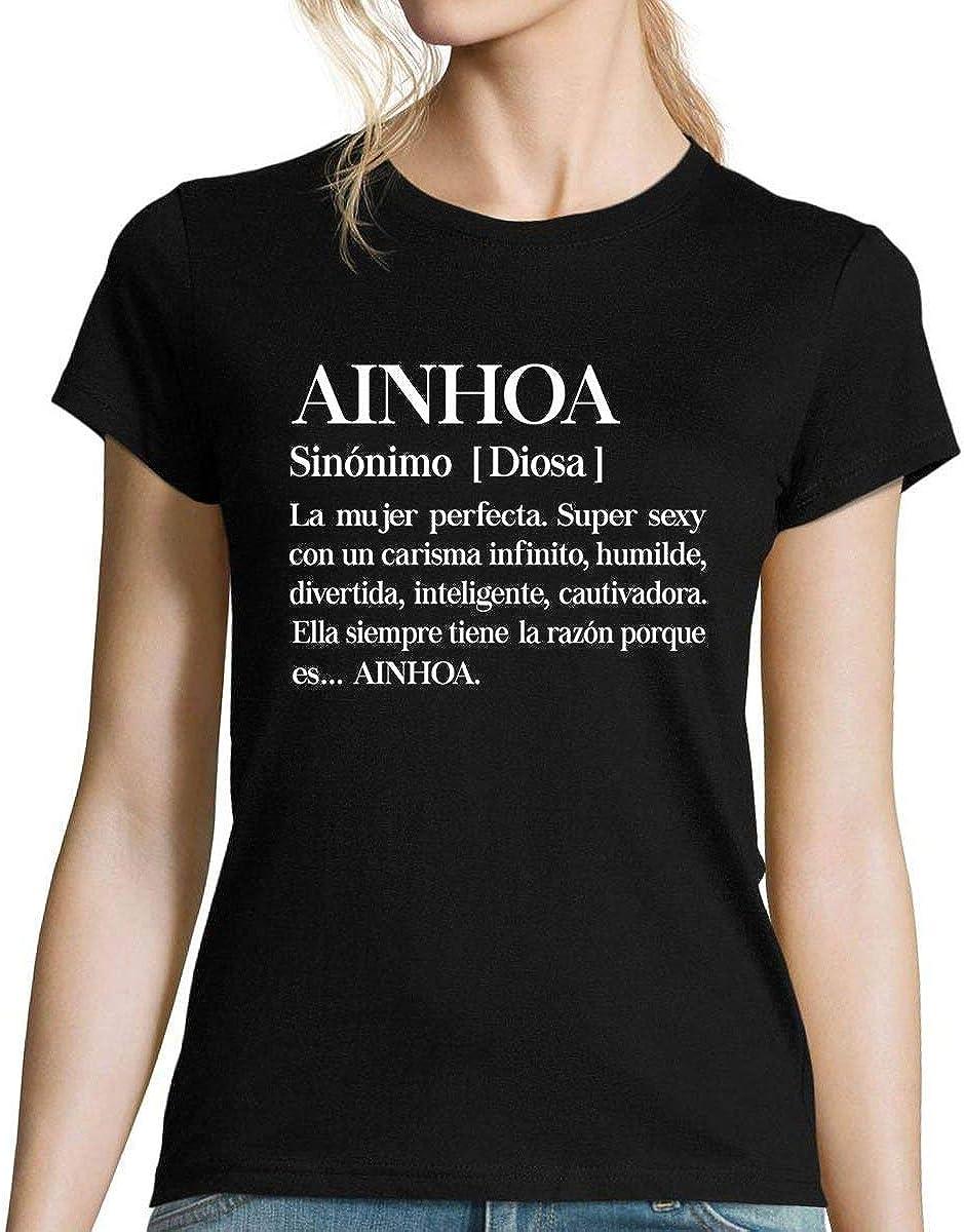 Ainhoa   La Mujer Camiseta para Mujer: Amazon.es: Ropa