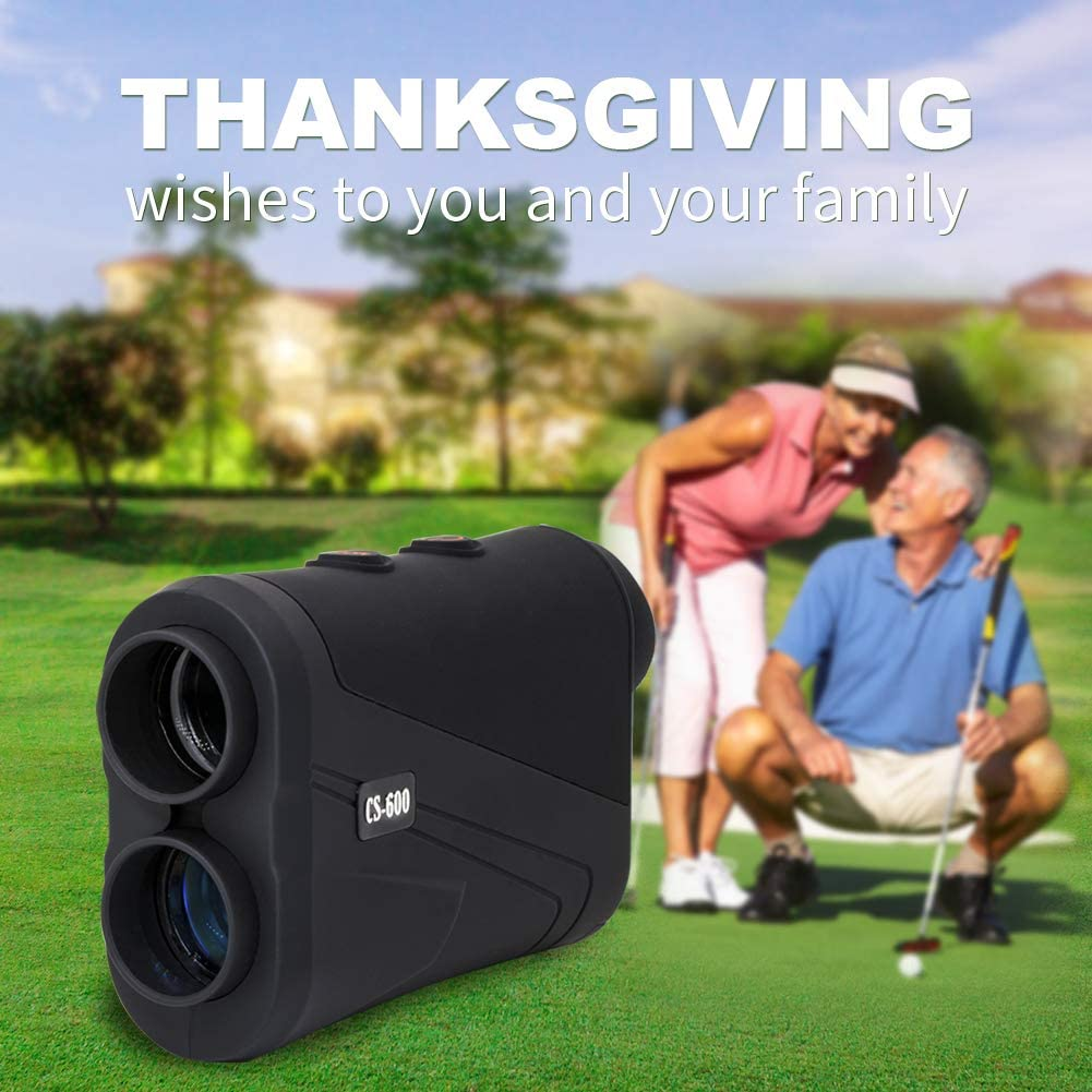 MOESAPU Laser Range Finder for Golf Hunting up to1500 Yards M Y 7X Magnification with Pin-Seeker Flag-Lock, Mode Memory,Continuous Scan, 4 Scan Modes Tournament Legal Golf Rangefinder with Battery