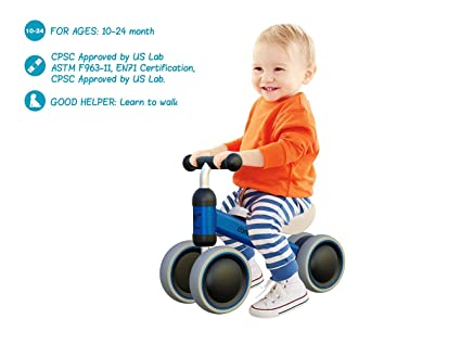 Baby Toddler Tricycle Bike No Pedals 10 24 Months Ride On Toys Gifts Indoor