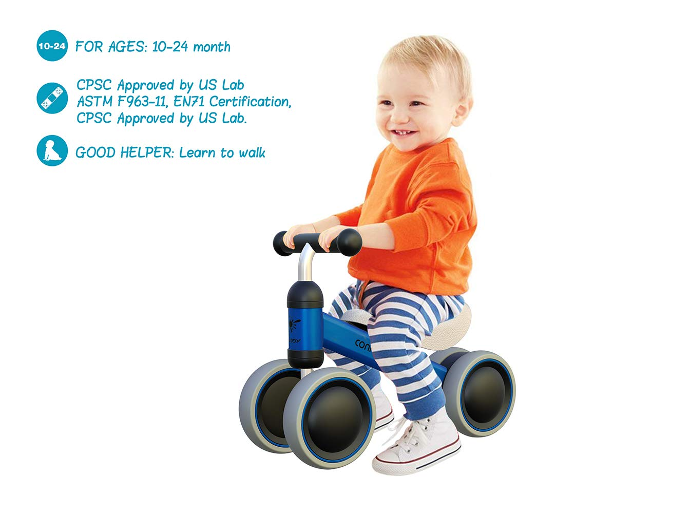 Mingzheng Baby Balance Bike For One Year Old Boys And