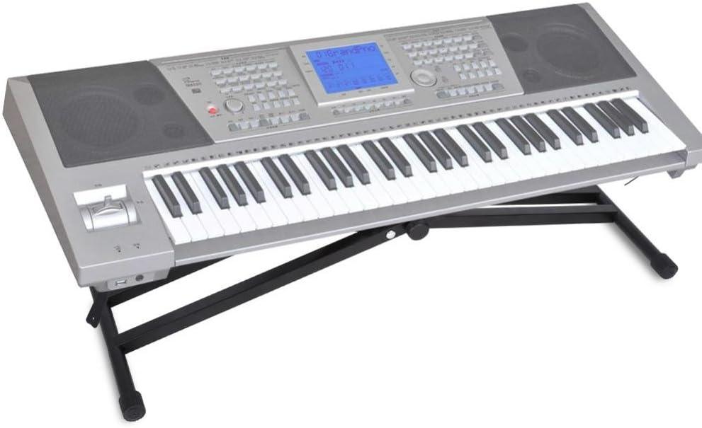 Supporto per tastiera portatile ad altezza regolabile X-Style doppio supporto musicale elettrico per organi
