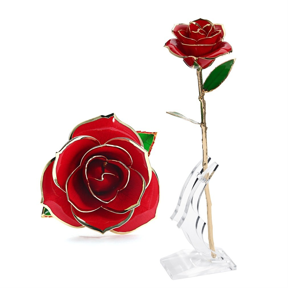 Amazon outad rose flower best gift for valentines day amazon outad rose flower best gift for valentines day mothers day anniversary birthday gift gift for lover mother girlfriend 24k golden plated izmirmasajfo