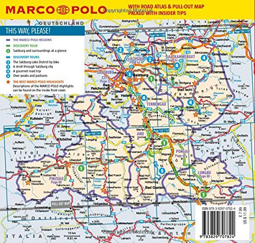 Salzburg and Surroundings Marco Polo Pocket Guide 2018 with pull