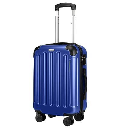 Amasava Maletas de Viaje Rigidas, Equipaje de Mano 32 * 21 * 55CM 37L PC + ABS Equipaje para Viajes en Avión con Cerradura TSA