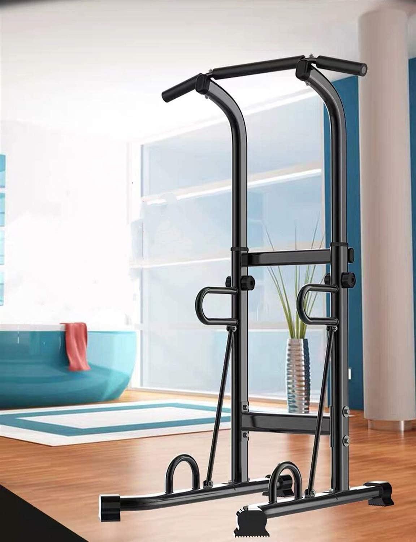 MGIZLJJ Torre de Potencia Ajustable - Multi Función de extracción hasta la estación for musculación - Dip Soporte Entrenamiento físico Bar - Empuje hacia Arriba Equipo de Gimnasio en casa Ejercicio: Amazon.es: