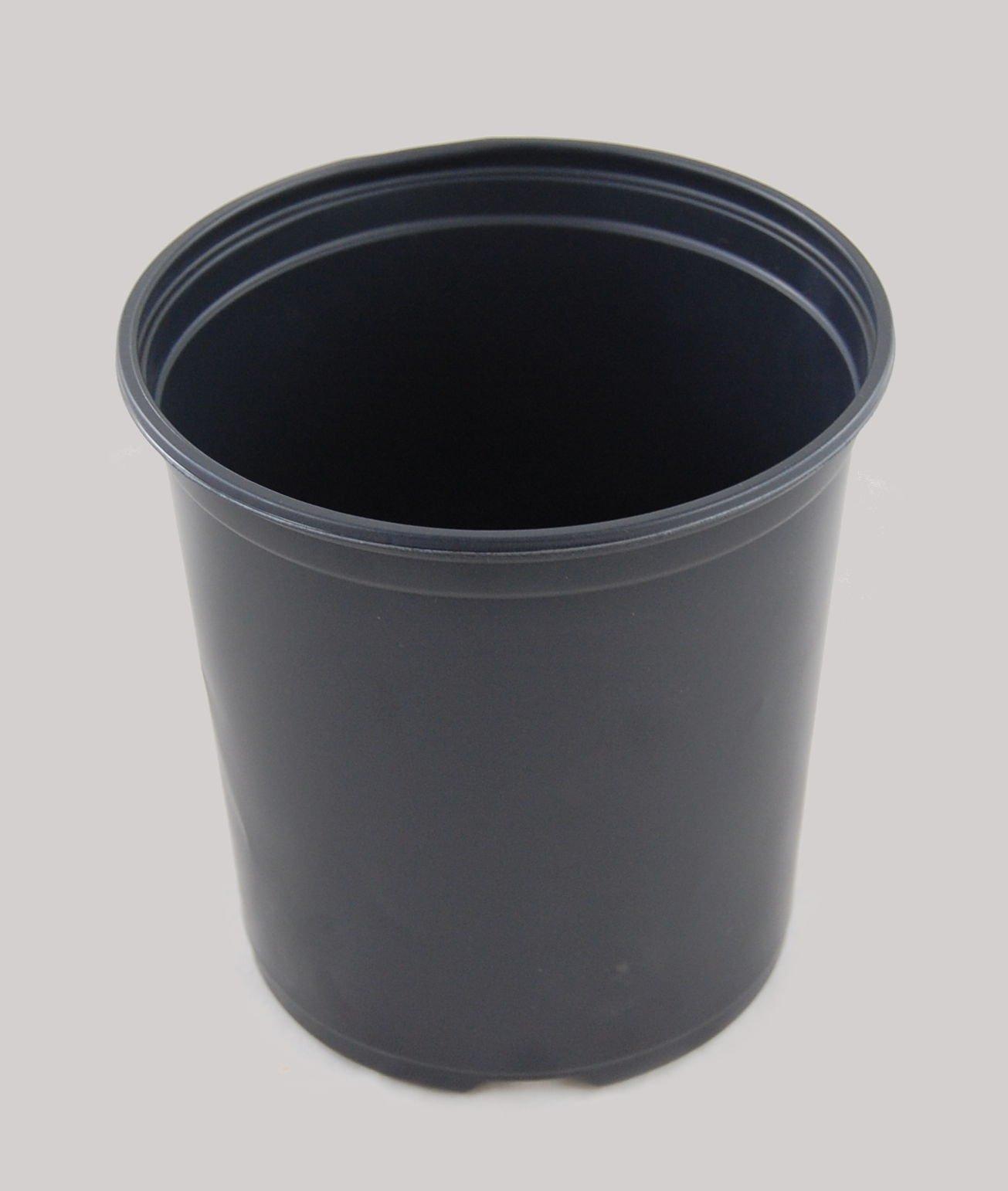 Flower Pots in Bulk 1 Gallon Plastic Nursery Garden Plant Flower Pots, Small Flower Pots, Flower Pots indoor Decorative (150) by Flower Pots (Image #3)