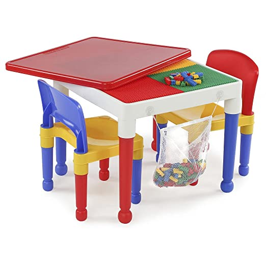 Amazon.com: 2-in-1 Kids Tot Tutors Construction Table W/chairs ...
