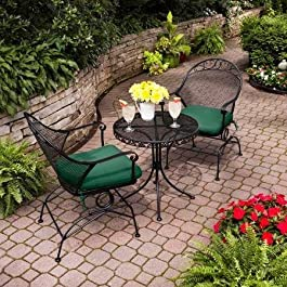 Clayton Court 3-Piece Motion Outdoor Bistro Set, Seats 2 – Best quality for a low price
